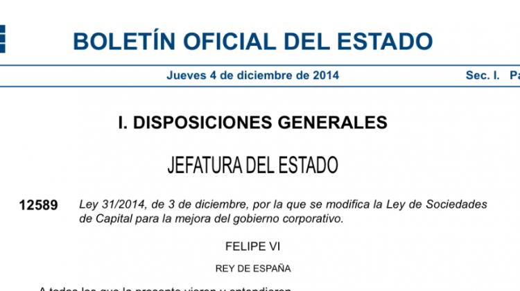 Ley 31/2014, por la que se modifica la Ley de Sociedades de Capital para la mejora del gobierno corporativo, Alcázar Abogados - Expertos reestructuraciones empresariales o societarias.