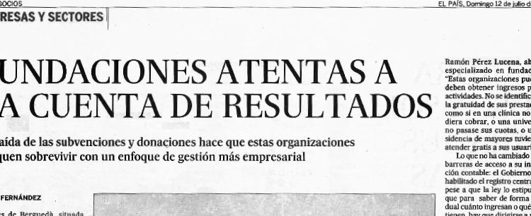 Lectura recomendada sobre Fundaciones, Alcázar Abogados - Expertos reestructuraciones empresariales o societarias.